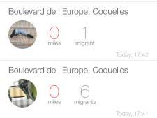 Nieuwe app waarschuwt truckers voor vluchtelingen