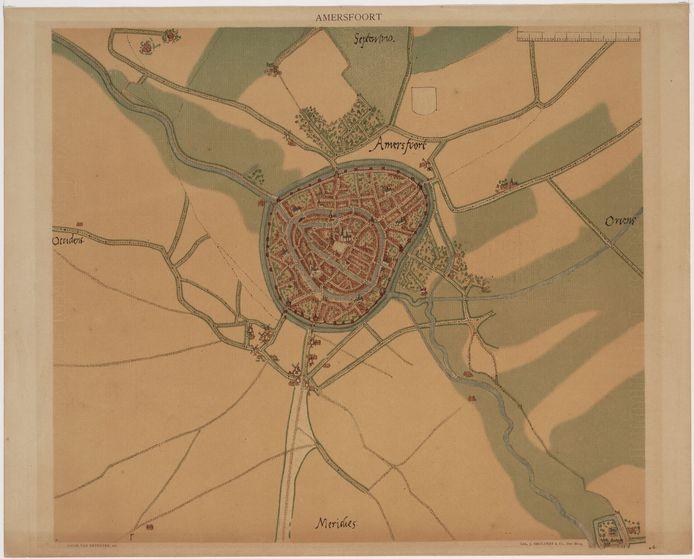 Het Archief Eemland stelt een reproductie van een historische kaart van Amersfoort beschikbaar. Deze komt in de centrale hal te hangen.