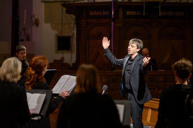 Het Groot Omroepkoor is het enige professionele symfonische koor van Nederland. Beeld Jelmer de Haas