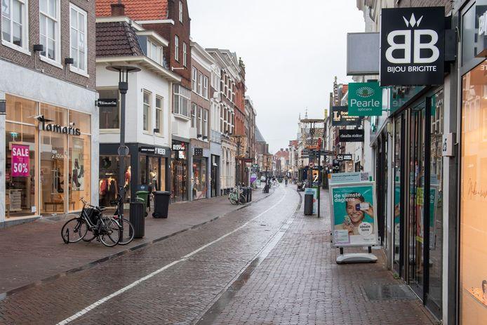 De binnenstad van Amersfoort in lockdown.