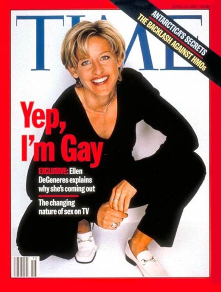 Ellen DeGeneres op de bewuste TIME-cover. Beeld TIME