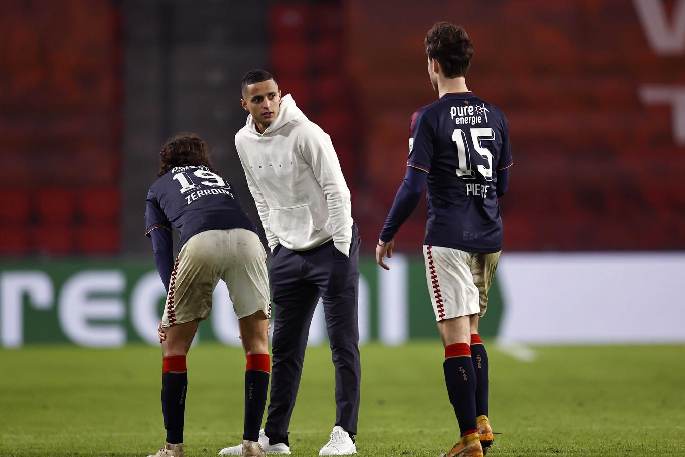 Mohamed Ihattaren tijdens het duel met FC Twente