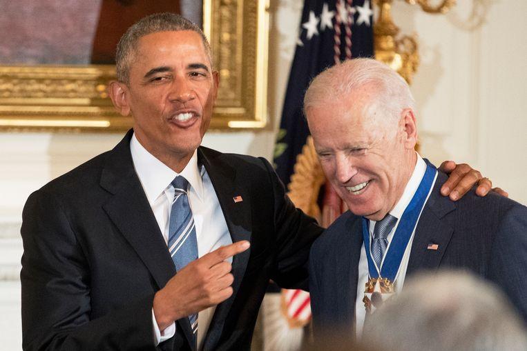 Barack Obama en Joe Biden. Beeld EPA