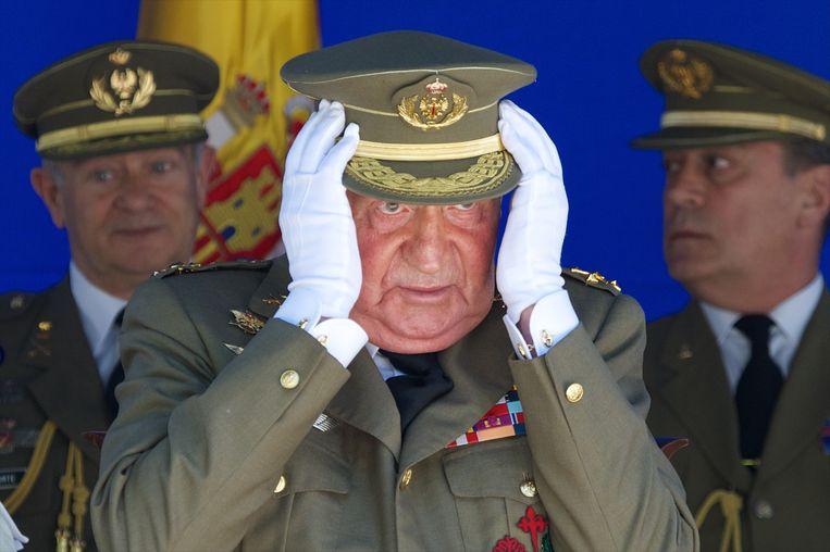 De vader en grootvader van Juan Carlos brachten ook al lange delen van hun leven in ballingschap door.  Beeld Getty Images