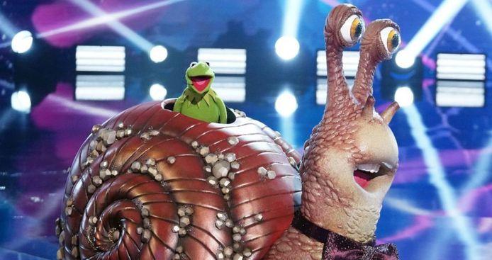 De slak is... Kermit de Kikker!