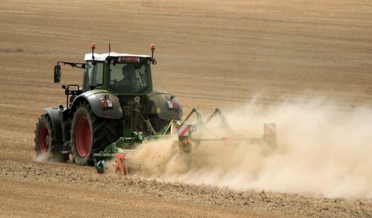 Bij waterschaarste kunnen landbouwers het verbod krijgen om de akkers te irrigeren maar de kraan moet blijven lopen Beeld Henk Deleu