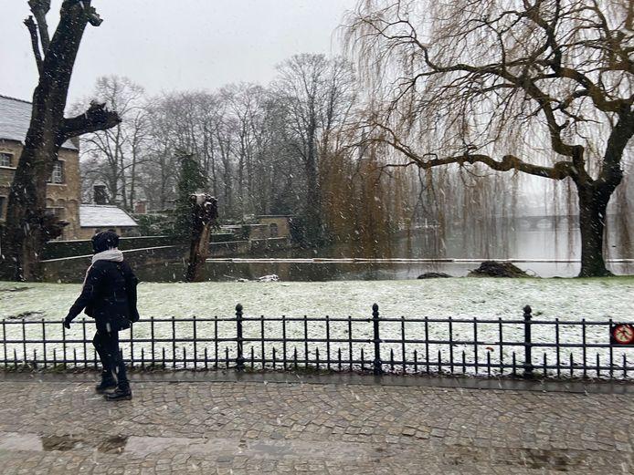 Gisteren kregen delen van Vlaanderen al te maken met sneeuwval en zag het even wit.