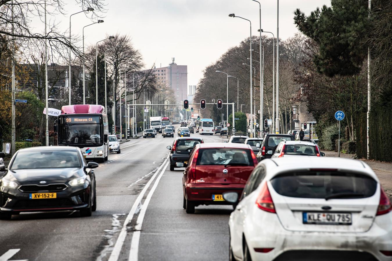 De Graafseweg in Nijmegen.