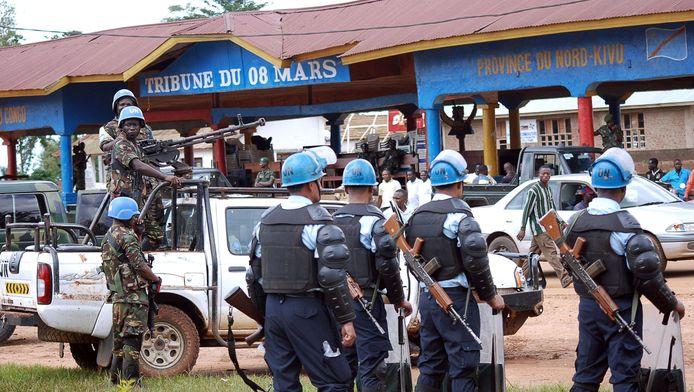 VN-soldaten vorige week in Beni