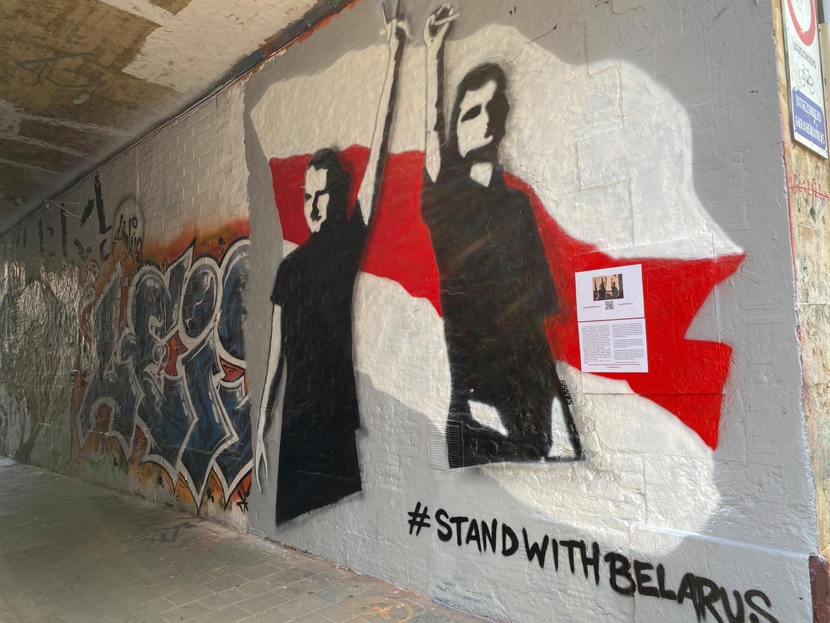 Steun Wit-Rusland met een selfie in het Graffitistraatje