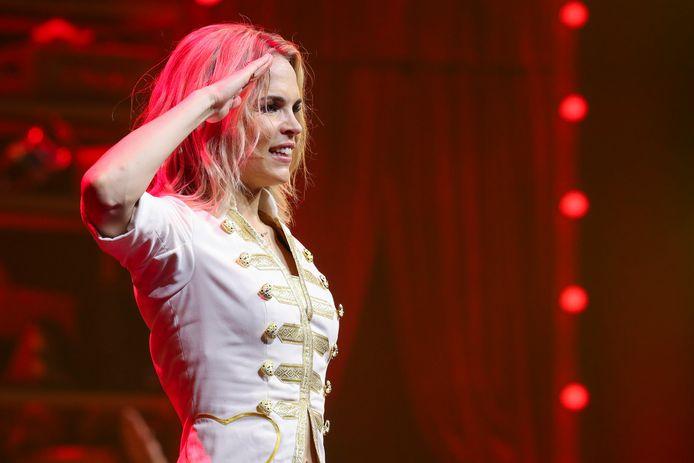 Klaasje Meijer tijdens haar laatste show als onderdeel van K3.