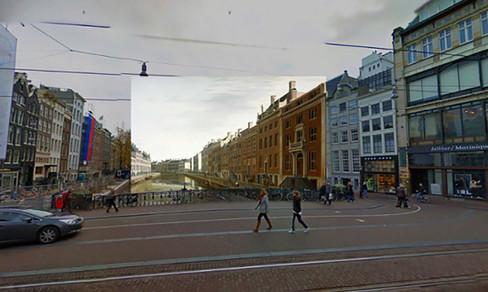 Foto van Mix van oude schilderijen met Google Street View is schot in de roos