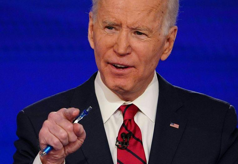 Presidentskandidaat Joe Biden ligt onder vuur vanwege een opmerking over zwarte kiezers. Beeld AFP