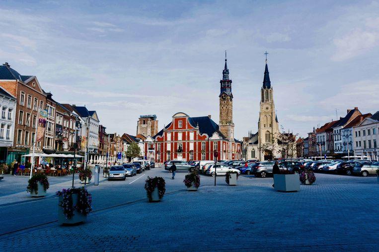 Sint-Truiden heeft de twee grootste Markt van België. Plaats genoeg voor de ijssculpturen...