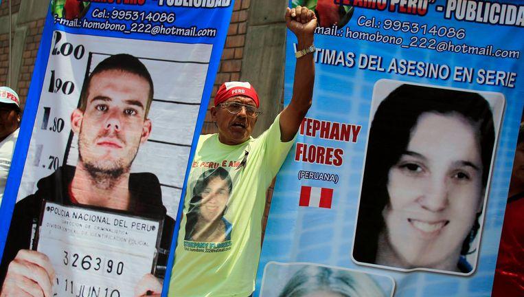 Van der Sloot werd veroordeeld tot 28 jaar gevangenisstraf voor de moord op Stephany Flores (r). Beeld REUTERS
