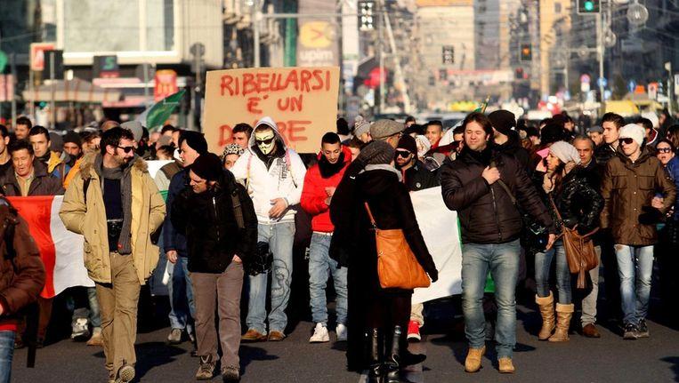Archieffoto van de Forconi-demonstranten Beeld epa
