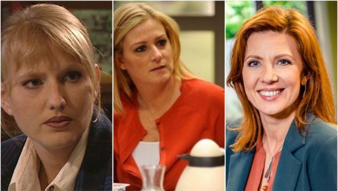 De drie gedaantes van Véronique: Ann-Christine Hendrickx, Anne Somers en Sandrine André.
