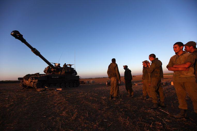 Israëlische soldaten bij de grens met de Gazastrook Beeld epa
