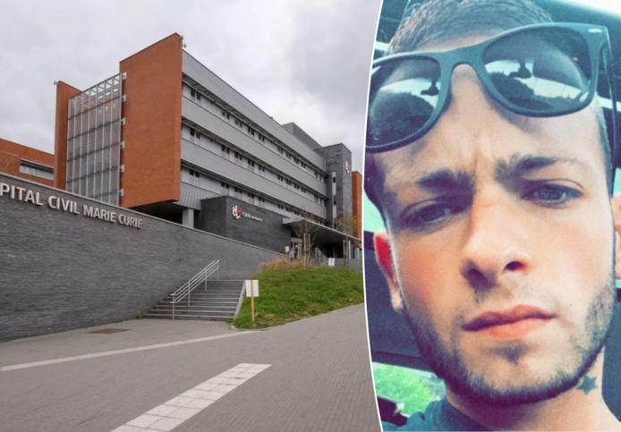 Slachtoffer Valerio is gisteravond door twee onbekenden aan dit ziekenhuis in Lodelinsart (Charleroi) achtergelaten.