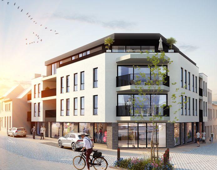 Dit wordt Residentie Pluba. Met rechts de Lostraat en links de Bellemstraat.