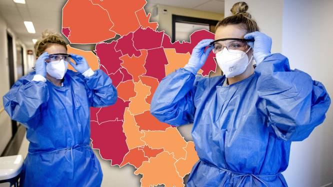 KAART | Bijna 1000 nieuwe besmettingen in regio (en de kaart wordt steeds roder)