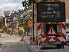 Drempels op Eindhovense Hertogstraat en Vestdijk weer aangepakt: 'De kopjes stonden hier op tafel te dansen'