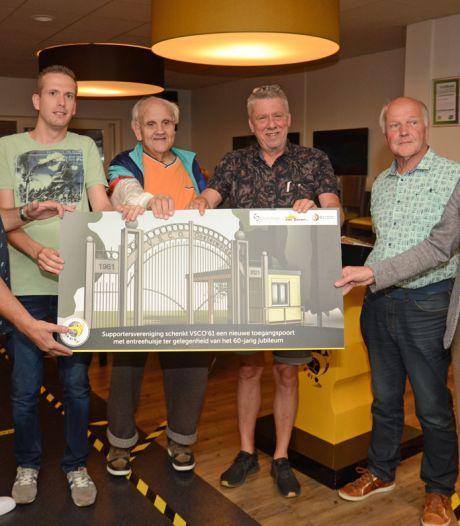 Verrassing voor jubilerend VSCO'61: sportpark De Heughte in Oosterwolde krijgt nieuwe entree