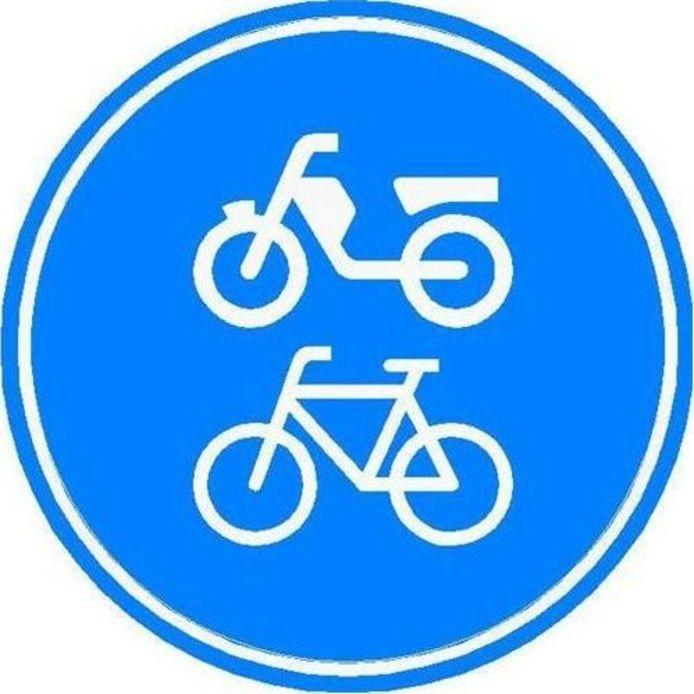 Verkeersbord fiets/bromfietspad (bord G12a).