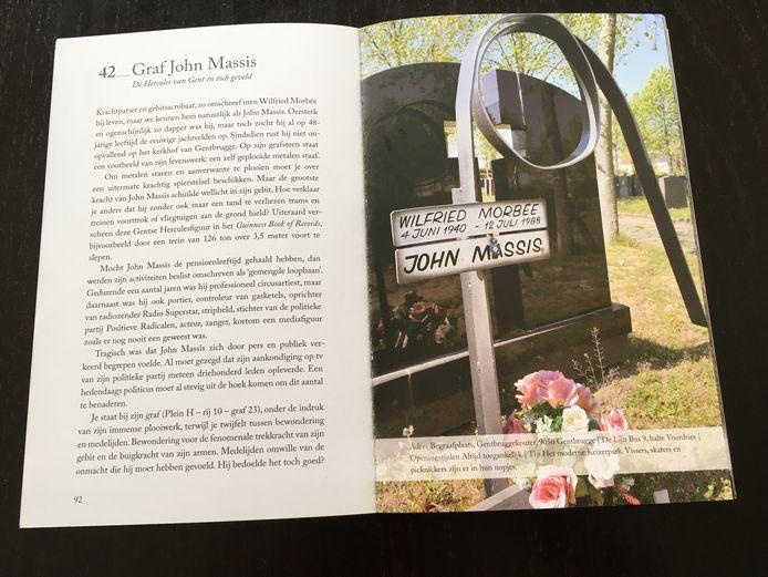Een van de verborgen parels in het boek is het graf van krachtpatser John Massis in Gentbrugge.