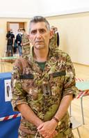 Kolonel Giuseppe Marchi, verantwoordelijk voor de coördinatie van de teams in Umbrië.
