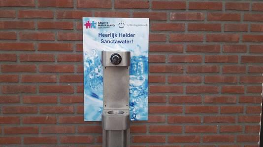 Met de officiële ingebruikname van het watertappunt 'Heerlijk helder Sanctawater' door wethouder Ufuk Kâhya werd de oplevering van het vernieuwde hoofdgebouw vrijdag gevierd.
