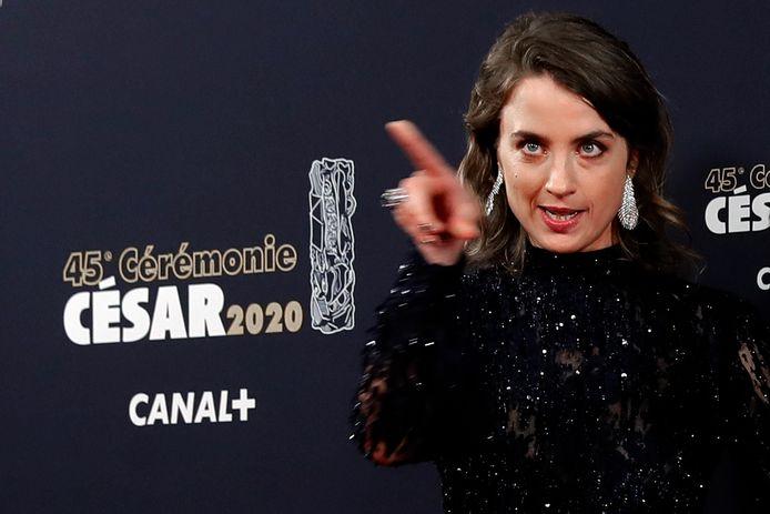 Adèle Haenel à la cérémonie des César en 2020.