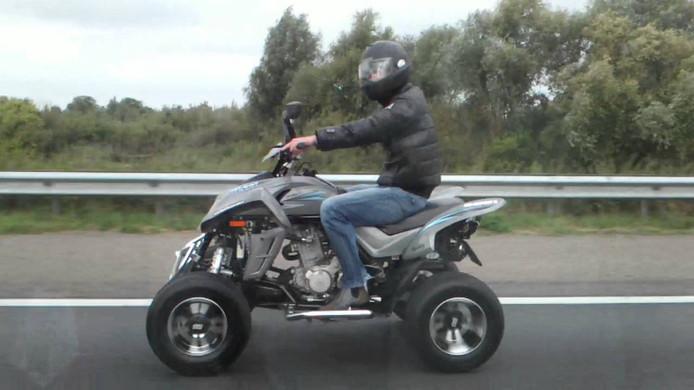 Quad op snelweg