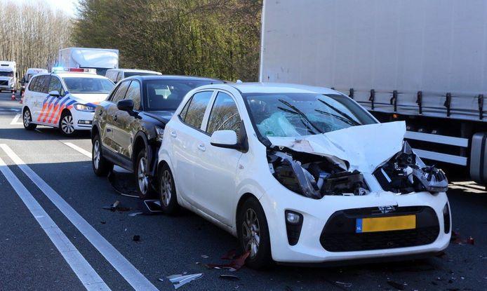Ongeval op A59 op afrit Engelen.