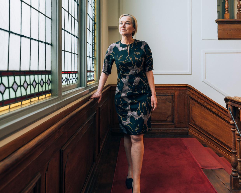 Sigrid Kaag: 'Vertrouwen in de politiek begint ook dáár – kiezers laten zien dat het geen eenheidsworst is geworden.' Beeld Rebecca Fertinel