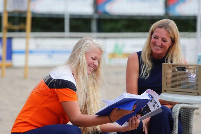Raïsa Schoon op de uitzwaaidag bij Beachsport Vereniging Werkendam
