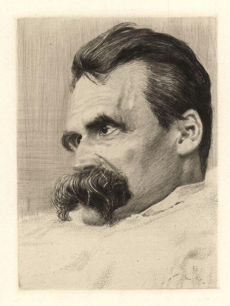 Portret van Friederich Nietzsche, 1899-1900. Beeld Getty Images