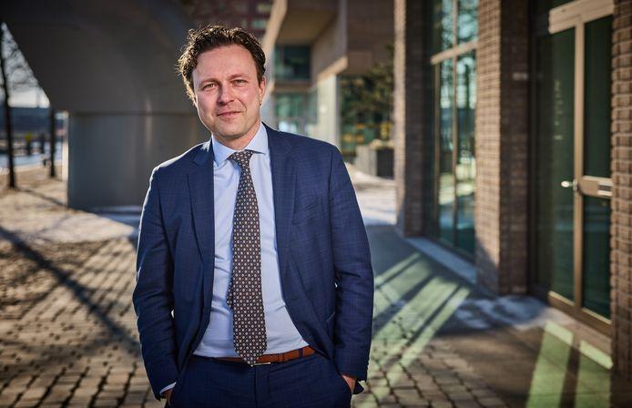 Wethouder Bas Kurvers (VVD), ook verantwoordelijk voor de - tot nu mislukte - ontwikkeling van het Schiekadeblok.