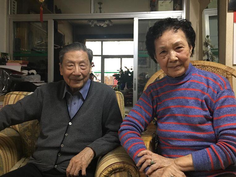 Mao Yushi en zijn vrouw. Beeld