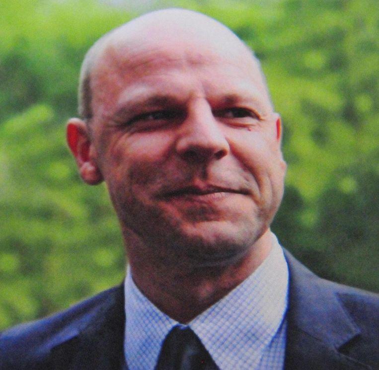 De foto van Glenn Maes (42) op zijn doodsprentje.