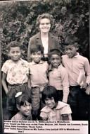 De Keiese kinderen in Westelbeers gingen in Middelbeers naar de lagere school. Staand, geheel rechts is Tinus Sarkol, een inmiddels overleden broer van Jos.