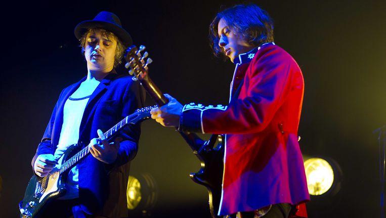 Pete Doherty (links) en Carl Barat (rechts) van The Libertines. Beeld ANP