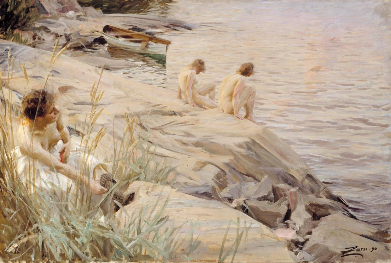 Anders Zorn, Buiten, 1890, olieverf op doek.