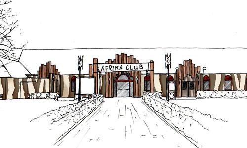Het eerste ontwerp voor de Afrika Club.