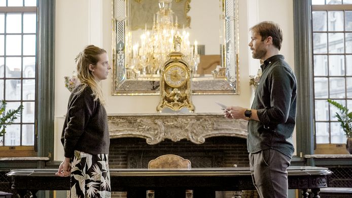 Blind Getrouwd; seizoen 6, aflevering 10 op zondag 18 april 2021 bij VTM.  Op de foto: Hanne & Dave