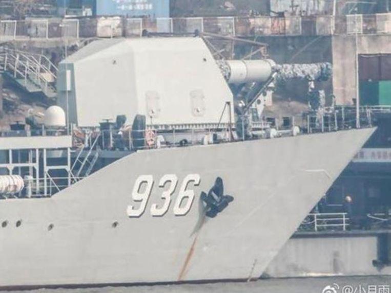 railgun of superkanon op Chinees landingsschip