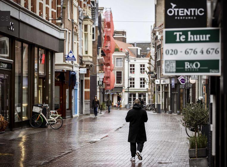 Een winkelstraat in het centrum van Haarlem. Beeld ANP
