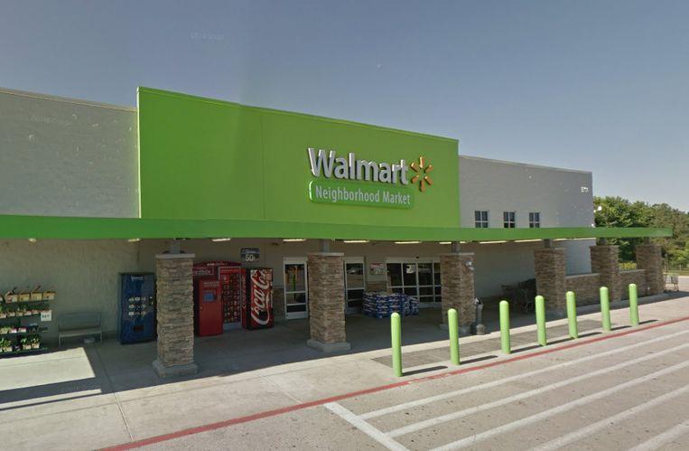 De Walmart in Springfield waar de verdachte werd aangehouden. Beeld Google Streetview