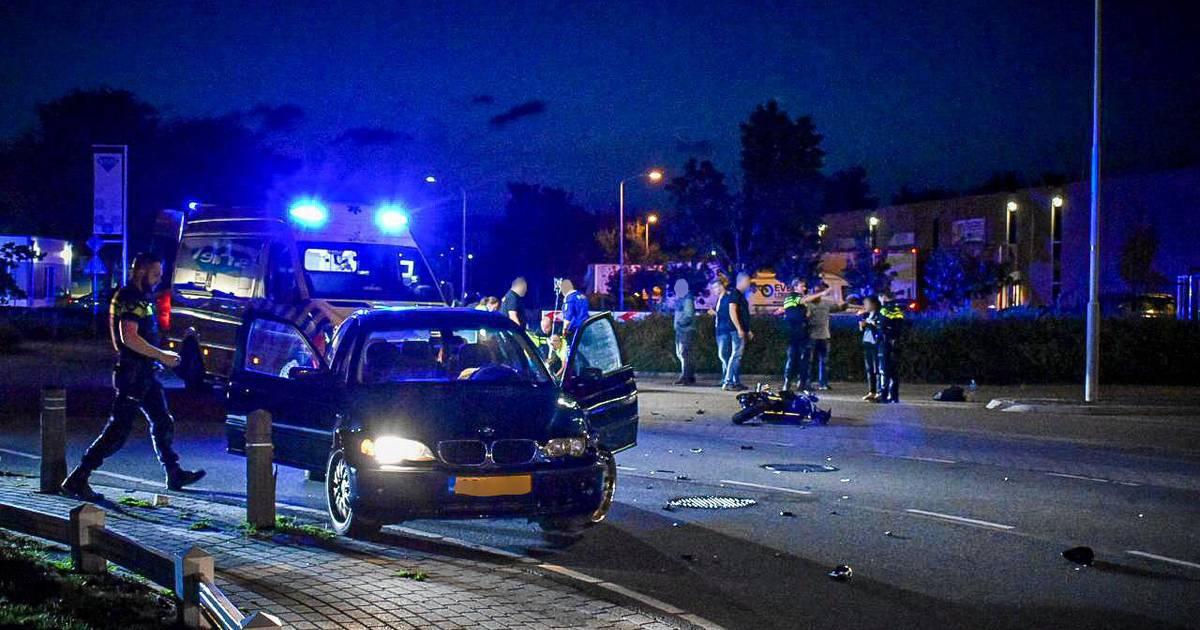 Motorrijder zwaargewond bij botsing met auto op Nijverheidsstraat in Bemmel.