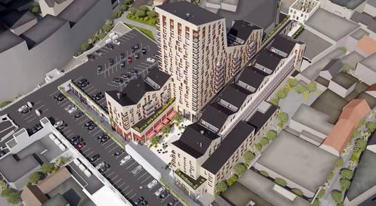De toekomstige Emmastraat en Frederikstraat-Zuid zijn in het filmpje te zien.